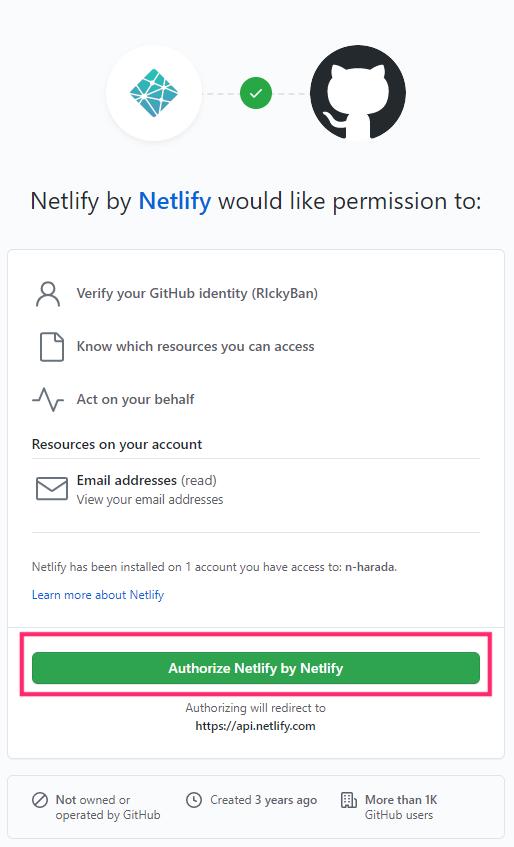 netlify-authenticate-github