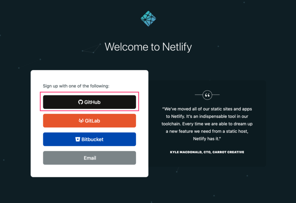 netlify-sign-up