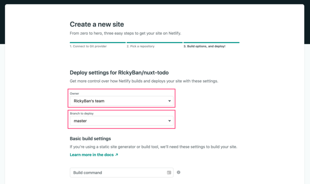 netlify-deploy-settings