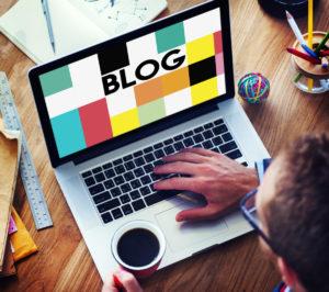 ブログの画面